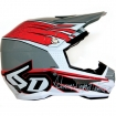 6D Helmet ATR-1 Intruder Grey-Red