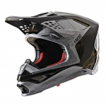 Alpinestars Supertech M10 Helm Alloy Silver-Black Carbon-Gold Glossy 2020