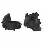 Polisport Performance Clutch Cover + Ignition Cover Protectors Honda CRF 450R 17-20