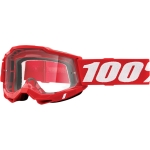 100% Youth Accuri 2 Goggle Neon Red clear Junior 2021
