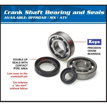 All Balls Crank Shaft Bearing Kit Suzuki