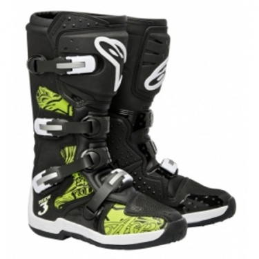 Alpinestars Tech 3 Stiefel Black-Green Swirls # SALE