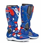 Sidi Crossfire 3 SRS Stiefel White-Blue-Fluo Red