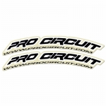 Pro Circuit Fender Decals Black