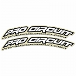 Pro Circuit Fender Decals White