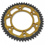 Dual Rear Sprocket Suzuki RM 125/250 83-, RMZ 250 07-, RMZ 450 05- (520) gold