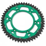 Dual Rear Sprocket Suzuki RMZ 250 04-06, Kawasaki KX 125-500 82-, KXF 250/450 04- (520) green