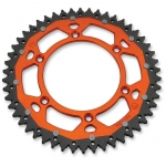 Dual Rear Sprocket KTM 2-stroke 83-, 4-stroke 99-, Husqvarna TC/TE FC/FE 14-, Husaberg 07- (520) orange