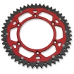 Dual Rear Sprocket Honda CR 125R/250R/500R 83-07, CRF 250R/X/RX 04-, 450R/X/RX 02- (520) red