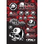Factory Effex Sticker Sheet Metal Mulisha