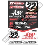 Factory Effex Sticker Sheet Chad Reed´s Two Two Motorsports