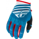 Fly Racing Kinetic K220 Gloves Blue-White-Red 2020