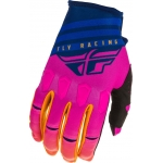 Fly Racing Kinetic K220 Gloves Midnight-Blue-Orange 2020