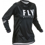 Fly Racing Women's Lite Jersey Black-White Ladies 2020 L - Ladies 40 # SALE