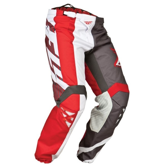 Fly Racing Kinetic Pants Division red-grey-white SALE