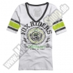 Fox Racing Revived Football T-Shirt weiss Ladies EXTREME SALE