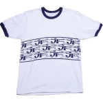 JT Racing Ringer T-Shirt white-blue # SALE
