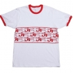 JT Racing Ringer T-Shirt white-red # SALE