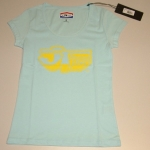 JT Racing Logo T-Shirt Ladies lightblue-yellow XS # SALE