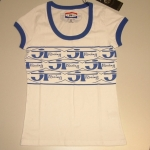 JT Racing Ringer T-Shirt Ladies white-blue XS # SALE