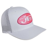 JT Racing Oval Trucker FF® Hat white-pink # SALE