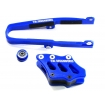 TM Designworks Chain Guide + Slide Kit Kawasaki KXF 250 09-16, 450 09-15 blue