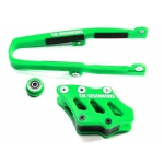 TM Designworks Chain Guide + Slide Kit Kawasaki KXF 09-16, 450 09-15 green