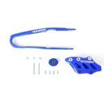 TM Designworks Chain Guide + Slide Kit Kawasaki KXF 250 17-, 450 16-18 blue