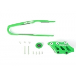 TM Designworks Chain Guide + Slide Kit Kawasaki KXF 250 17-, 450 16-18 green