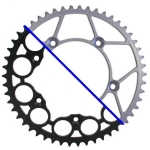 Rear Sprocket Steel KTM 2-Takt 83-, 4-Takt 99, Husqvarna TC/TE FC/FE 14-, Husaberg 07- (520) *Ultralight*