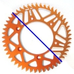 Rear Sprocket Alu KTM 2-stroke 83-, 4-stroke 99-, Husqvarna TC/TE FC/FE 14-, Husaberg 07- (520) orange