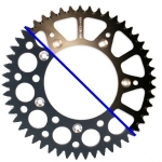 Rear Sprocket Alu TM 2-Stroke 03-, 4-Stroke 02- (520) black