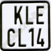 Sport Number Plate
