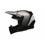 Bell Moto-9 Carbon Flex Helm Seven Series Rogue black/chrome 2017