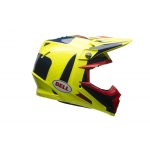 Bell Moto-9 Carbon Flex Helm Vice blue/yellow 2017