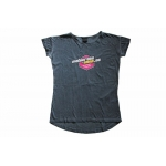 Motocross-Shop.de Ladies T-Shirt Charcoal Pink