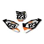 Numberplate-Decals KTM - Team Motocross-Shop.de