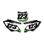 Numberplate-Decals Kawasaki - Team Motocross-Shop.de