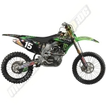 N-Style Pro Circuit Monster Energy Decor-Kit 2012 Kawasaki KXF 450 12