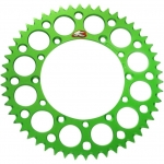 Renthal GP Rear Sprocket Alu Suzuki RMZ 250 04-06, Kawasaki KX 125-500 82-, KXF 250/450 04- (520) *Ultralight* green