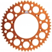Renthal GP Rear Sprocket Alu KTM 2-stroke 83-, 4-stroke 99-, Husqvarna TC/TE FC/FE 14-, Husaberg 07- (520) *Ultralight* orange