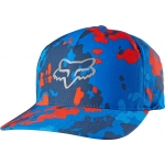 Fox Racing Stepped Up Flexfit Kappe Blue # SALE