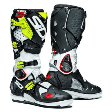 Sidi Crossfire 2 SRS Stiefel White-Black-Fluo Yellow