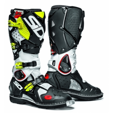 Sidi Crossfire 2 Boots White-Black-Fluo Yellow