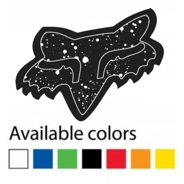 Fox Racing Sticker Splatter 4""