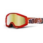 100% Strata Goggle Fire Red Mirror 2013
