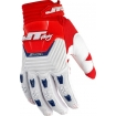 JT Racing Throttle Gloves Red-White-Blue 2015