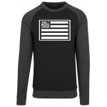 The Moto Crew Sweatshirt Crewneck with Flag Logo Black-Heather