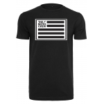 The Moto Crew T-Shirt with Flag Logo Black
