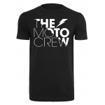 The Moto Crew T-Shirt with 50/50 Logo Black